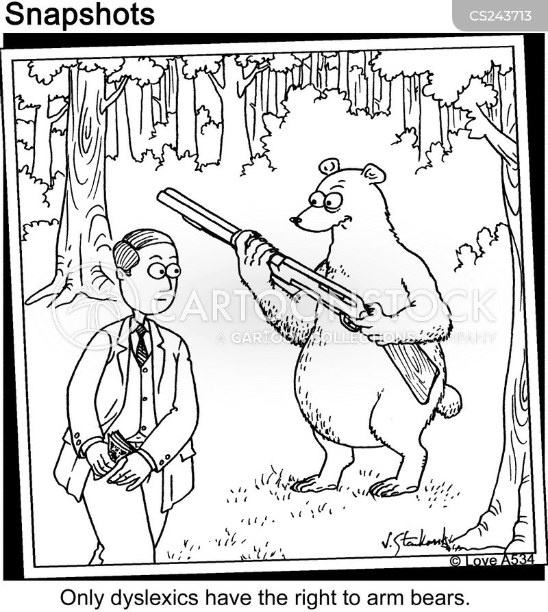 bear arms cartoon