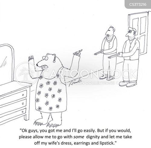 crossdressers cartoon