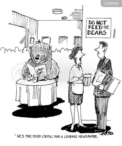 do not feed the bears cartoon