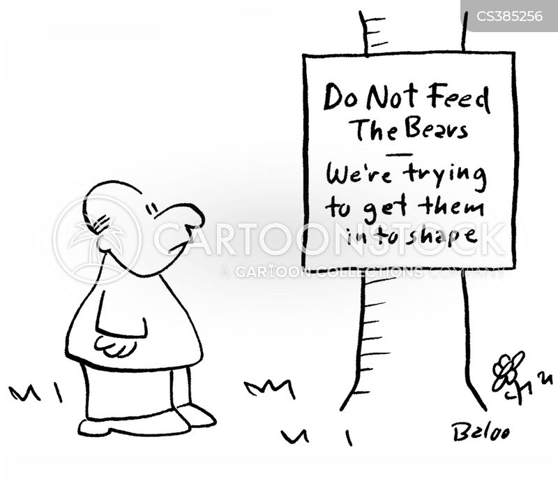 do not feed the bears cartoon