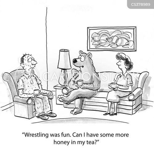 play-fights cartoon
