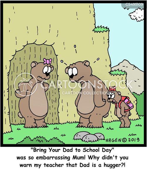 bear hugs cartoon