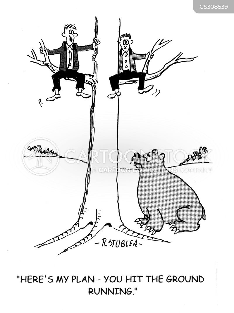 bear hunt cartoon