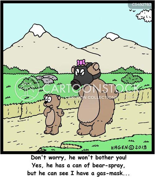 bear-sprays cartoon