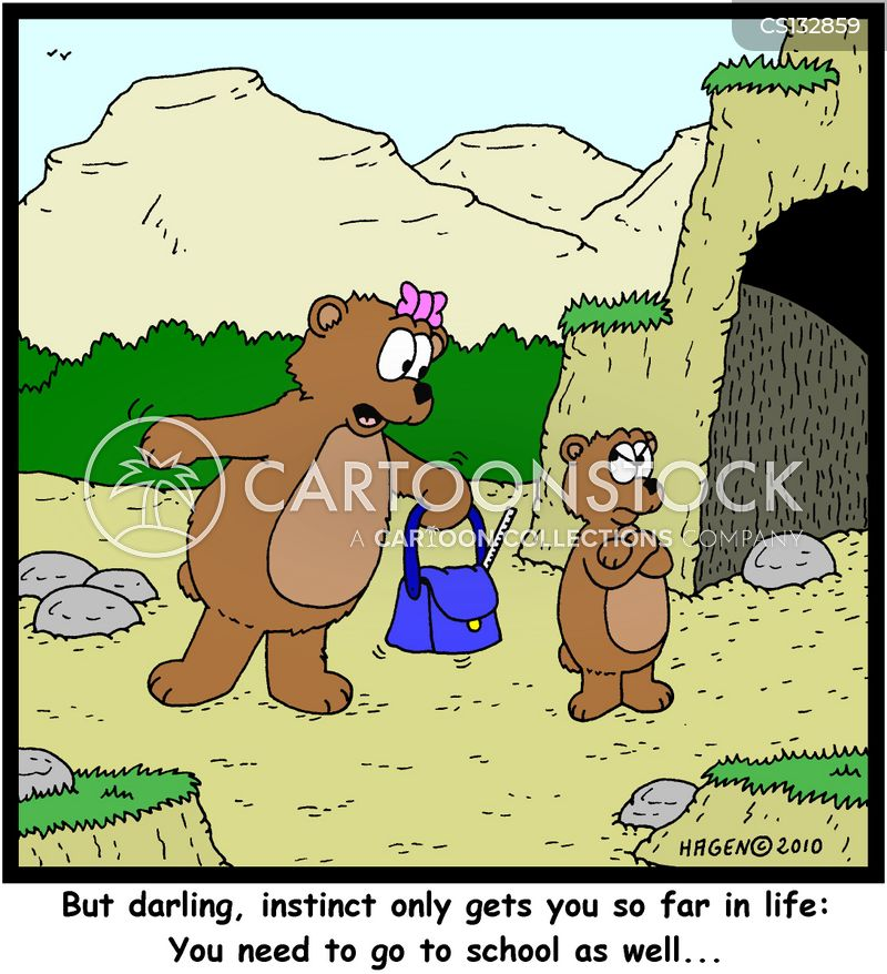 natural instinct cartoon