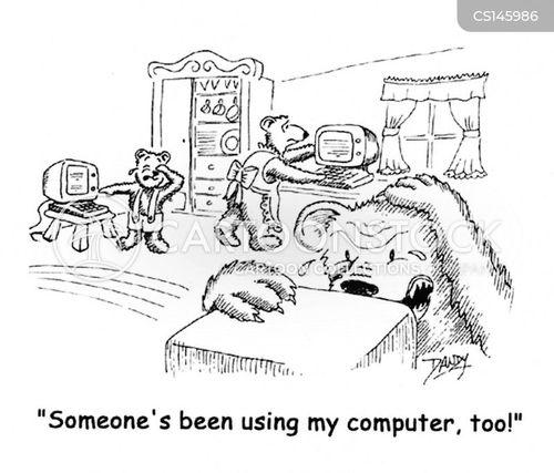 home computers cartoon