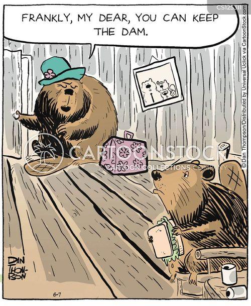 beaver dams cartoon