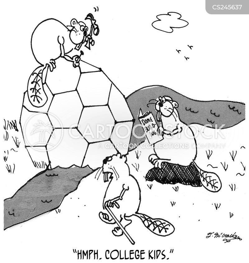 college kid cartoon