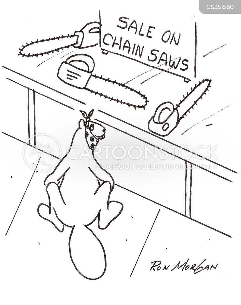 chain saw cartoon