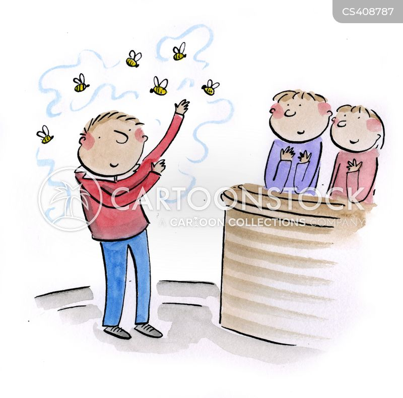 bee sting cartoon