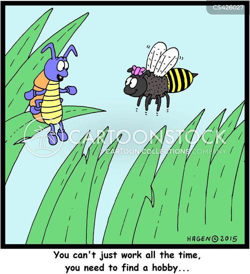 bumble bees cartoon