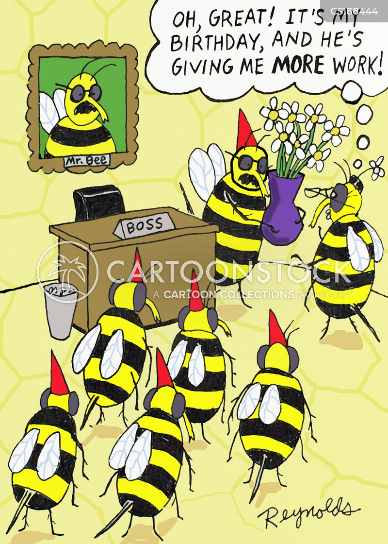 worker bees cartoon