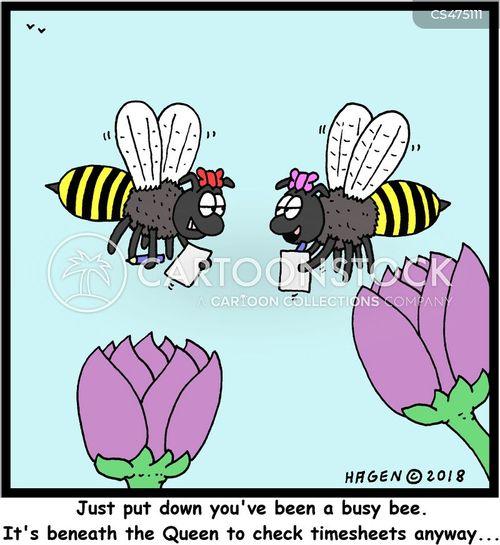 timesheets cartoon