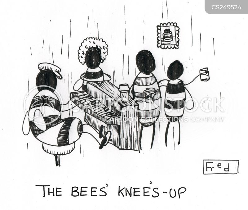 knees up cartoon