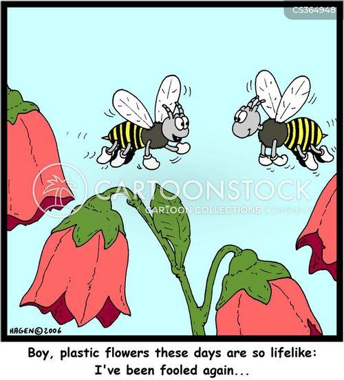 plastic flowers cartoon