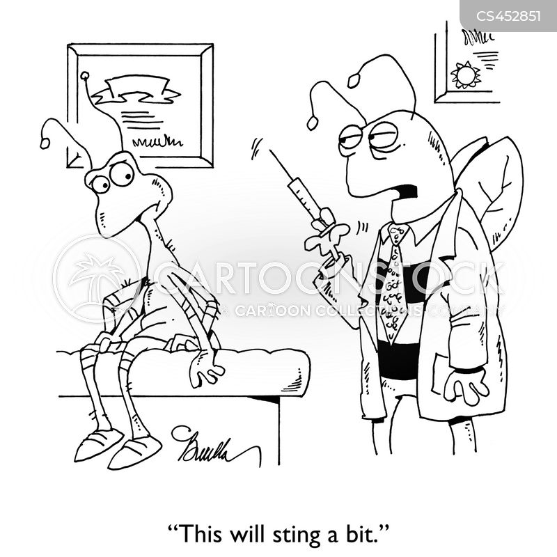 syringes cartoon