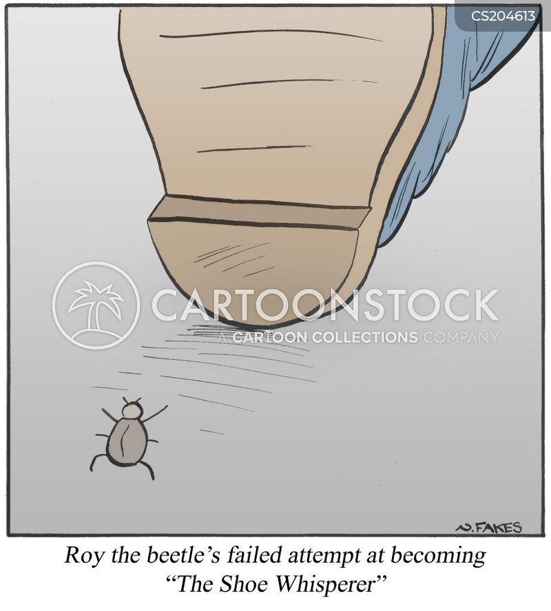 squashed insects cartoon