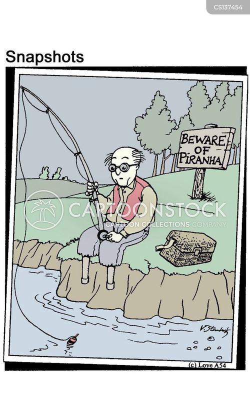 piranas cartoon