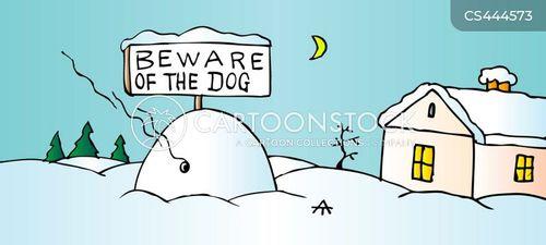 beware of dog cartoon