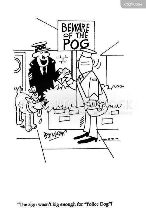 beware of dog sign cartoon