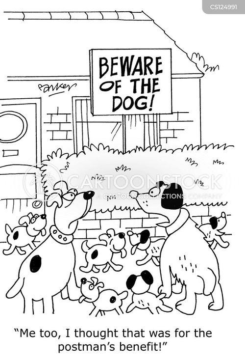 dog litters cartoon