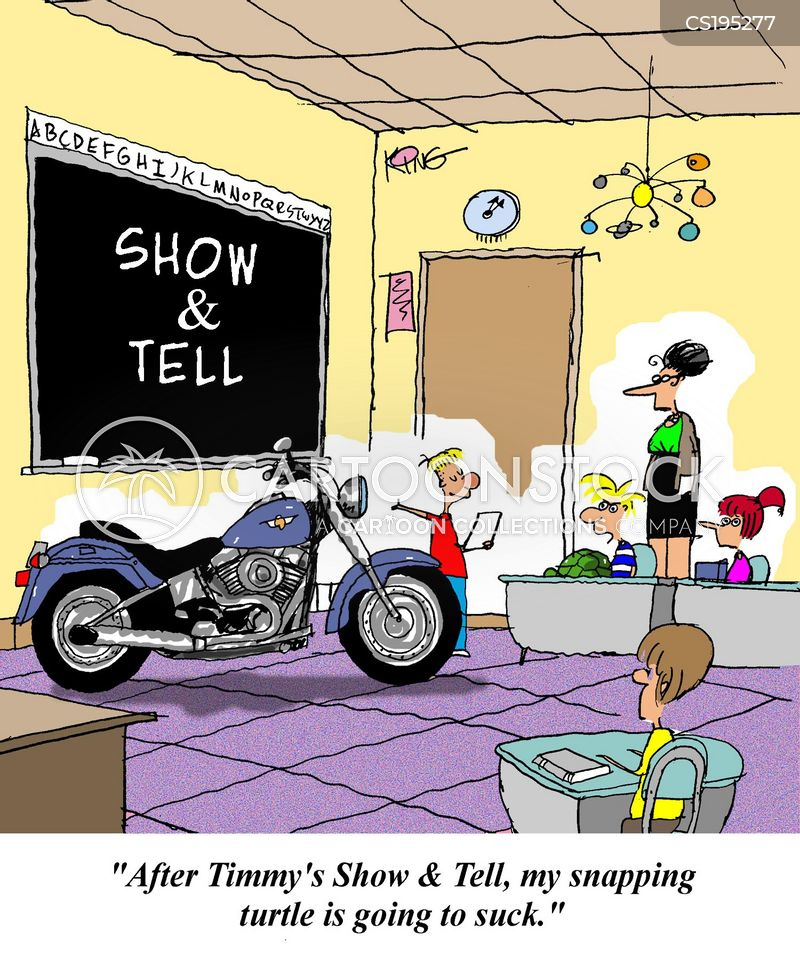 show and tell cartoon