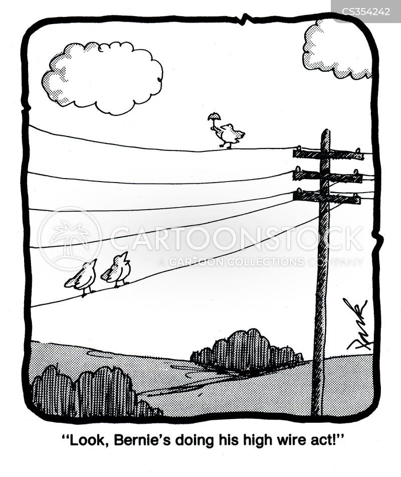 telegraph wires cartoon