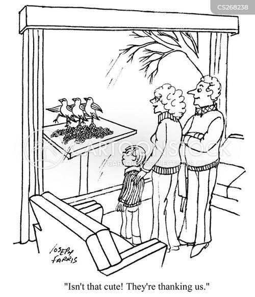 bird tables cartoon