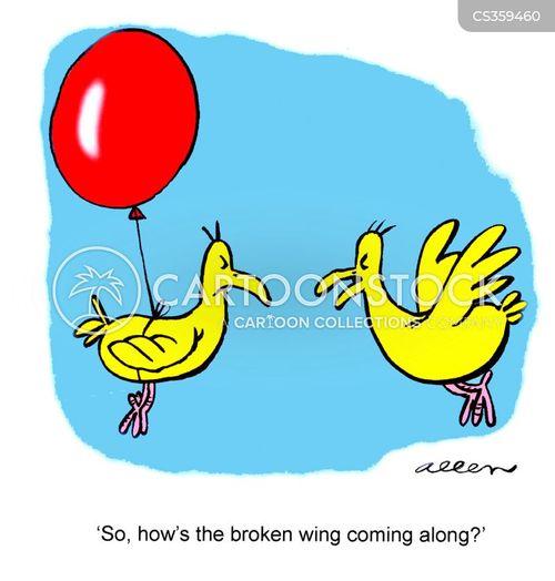 broken wing cartoon