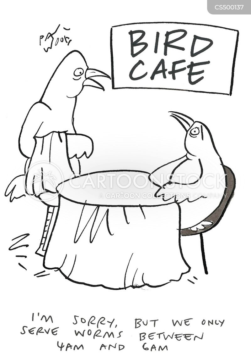 early bird gets the worm cartoon