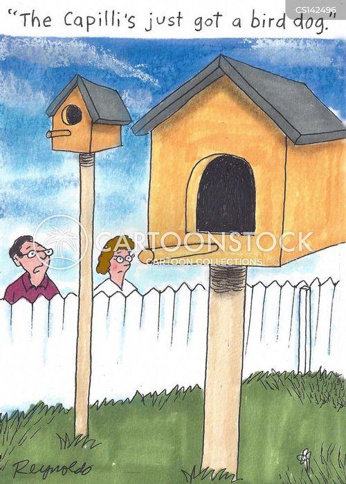 dog houses cartoon