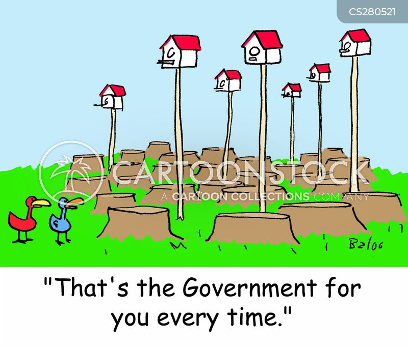 government housing cartoon