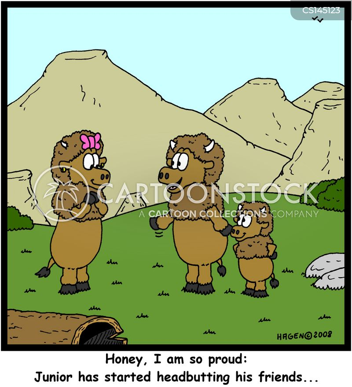 head butts cartoon