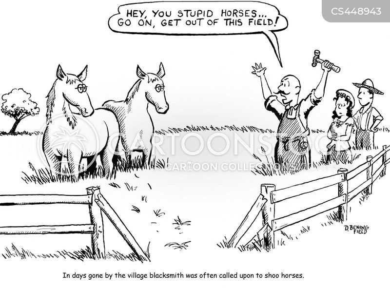 village blacksmith cartoon