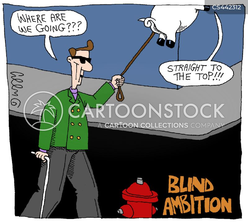 blind ambition cartoon