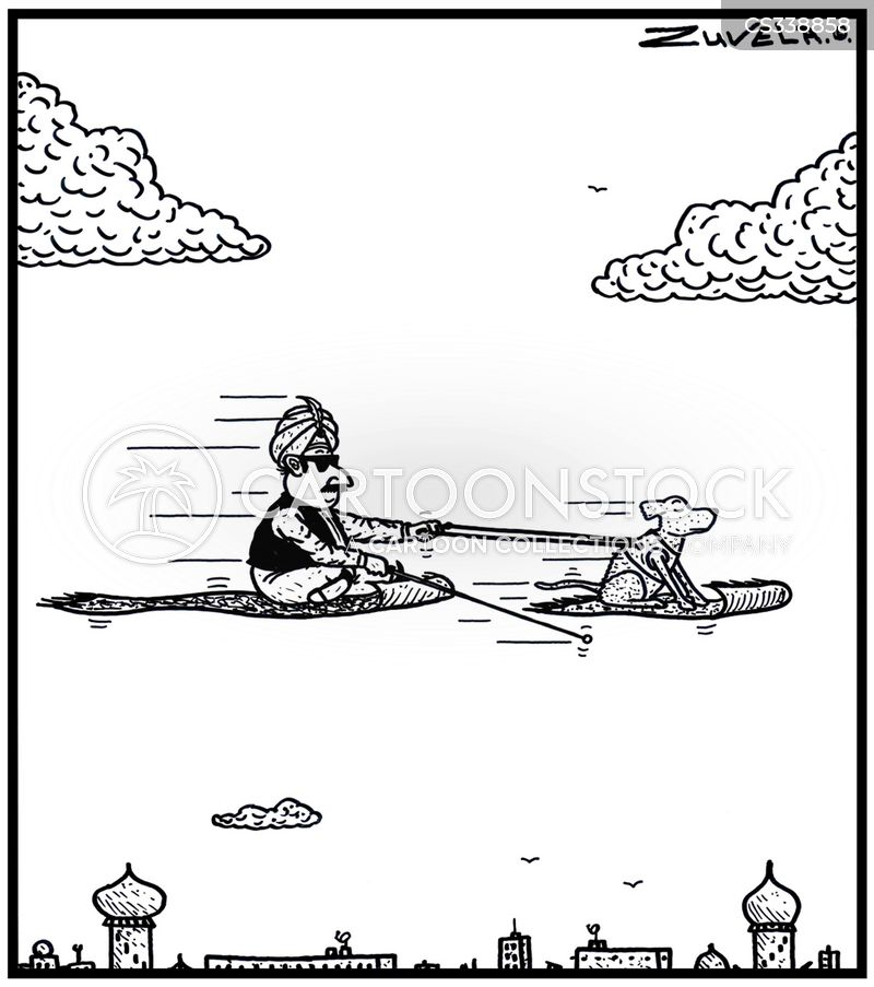 blind dog cartoon