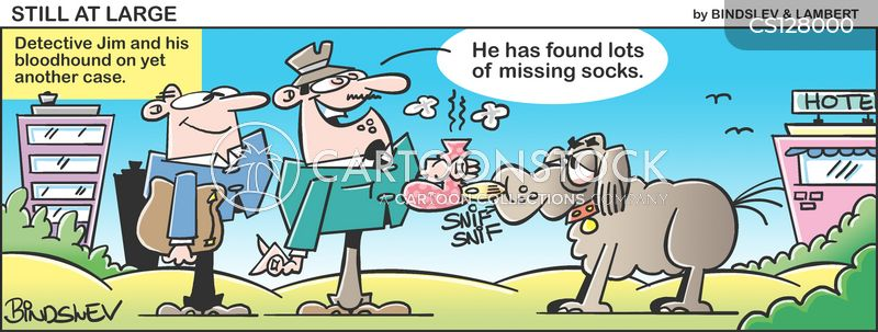 sniffing cartoon
