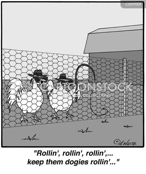 rolling cartoon