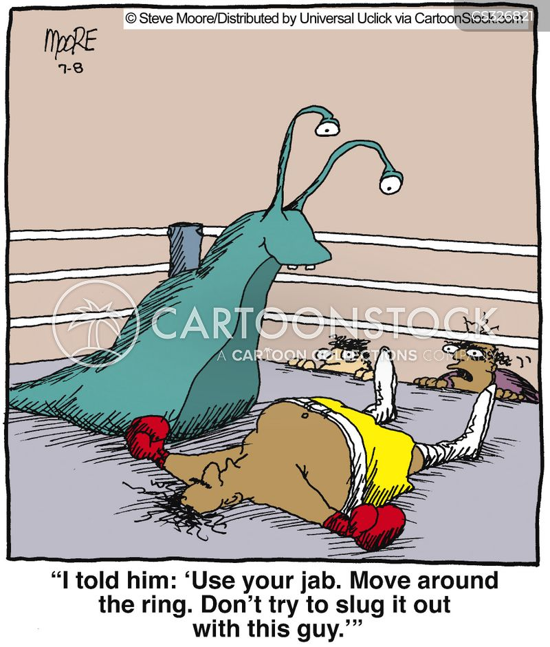 jabbing cartoon