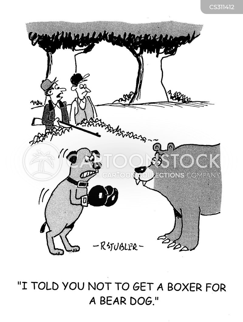 boxer dogs cartoon
