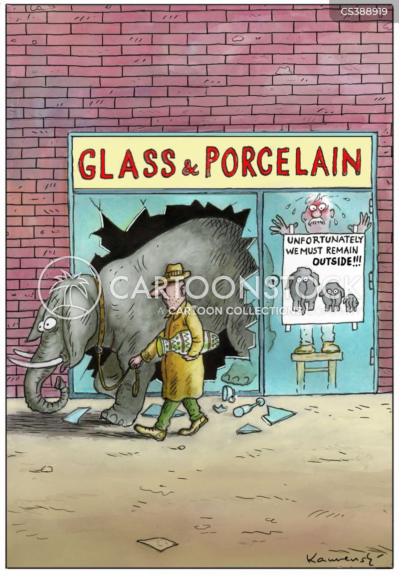 Porcelain Store Cartoons and Comics - funny pictures from CartoonStock