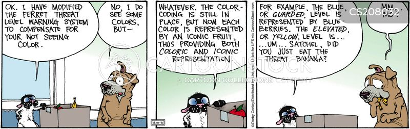 color blind cartoon