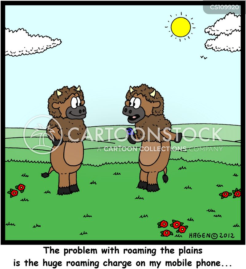 roaming charges cartoon