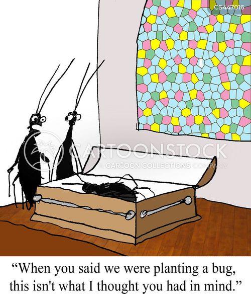 bugging cartoon