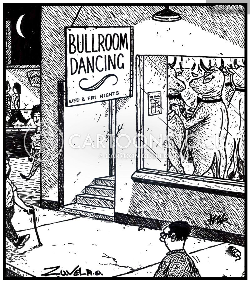 ballroom dancers cartoon