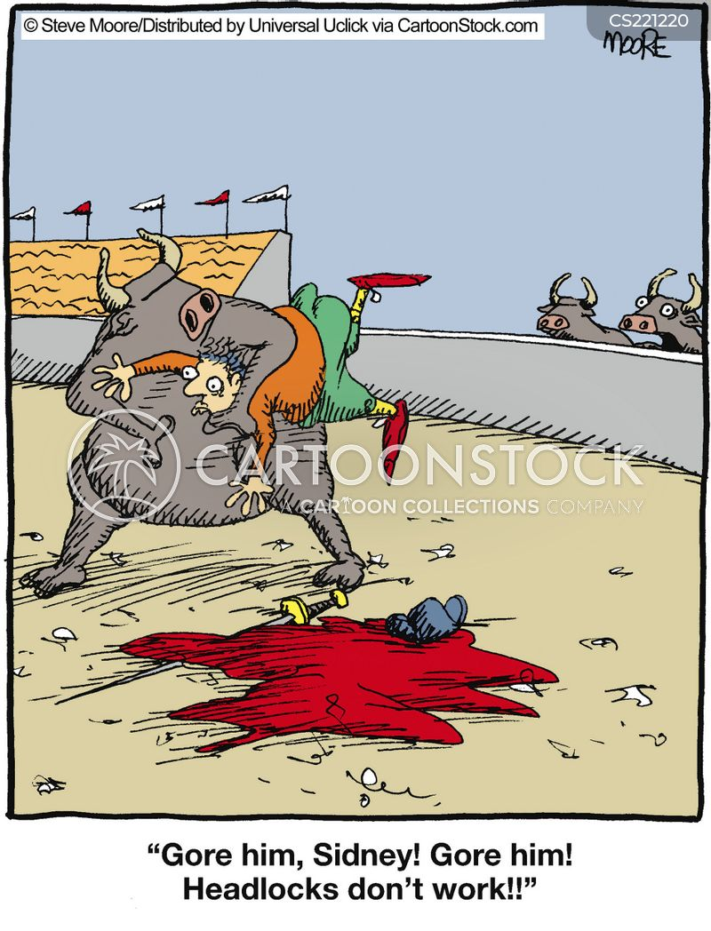 bullrings cartoon