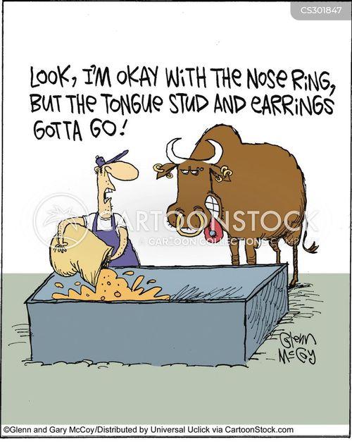 ear piercing cartoon