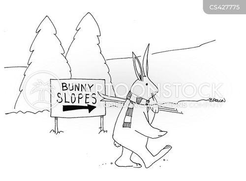 bunny slope cartoon