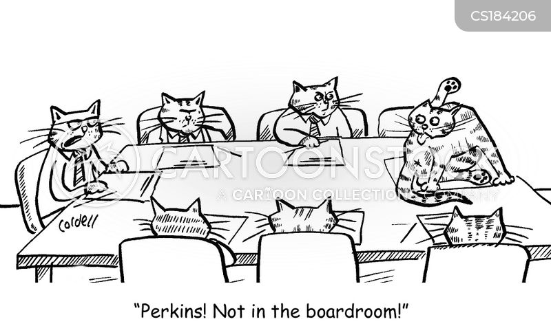 cats in suits cartoon