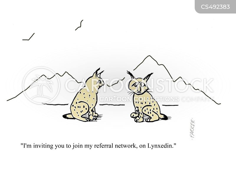 professional network cartoon
